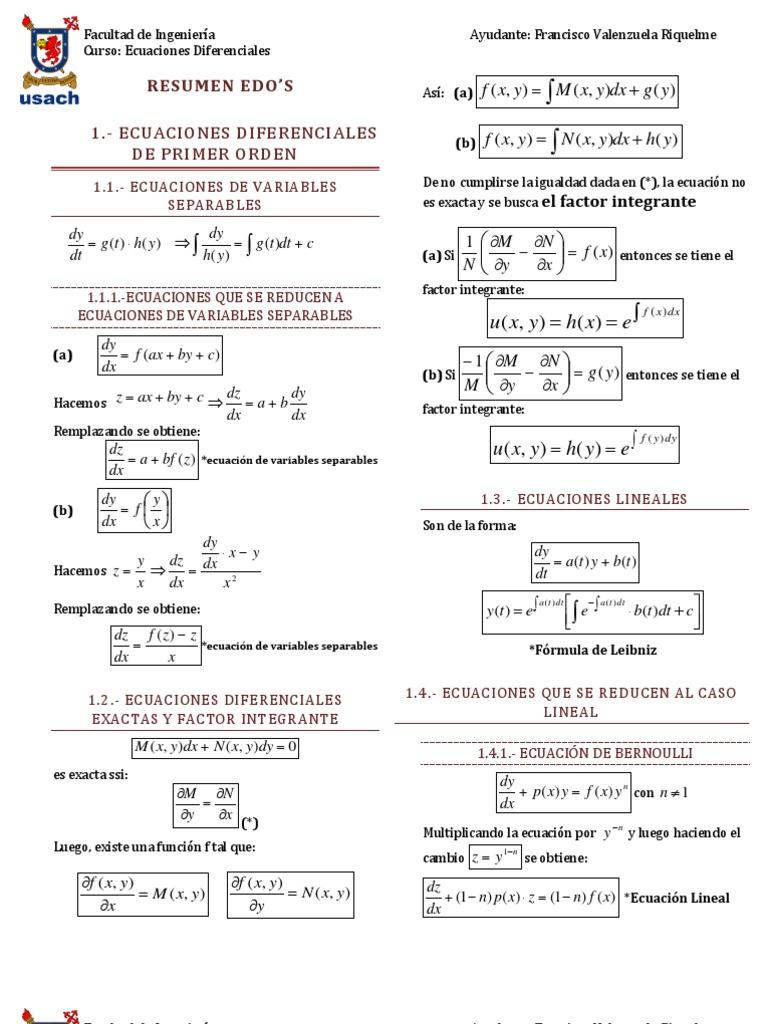 LIBRO ECUACIONES DIFERENCIALES USACH PDF