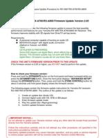 RXA800 Firmware Update Ver 2.05