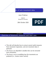 Analysis of Arm Movement Data Part 2