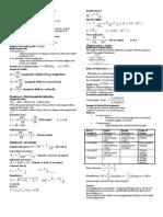 Physics Exam Cheatsheet