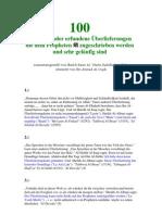 100 Schwache Oder Erfundene Ueberlieferungen