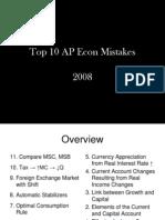 Top 10 AP Econ Mistakes