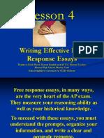 4 Free Response Essay Writing