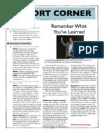 Pilot Cohort Corner Issue #10