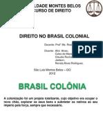 Trabalho Do Brasil Colonial RENATA