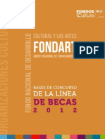 Bases Becas Fondart Nacional 2012