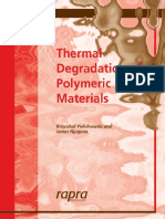 Thermal Degradation of Polymeric Materials