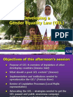 Developing a Gender Equality Law (GEL)