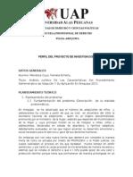 Analisis Juridico de Las Caracteristoicas Del Proceso Deadopcion y Su Aplicacion en 2011