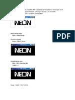 Texto Neon