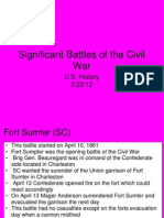 Significant Battles of the Civil War