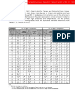 Dimensions Tables D and E BS 10 1962