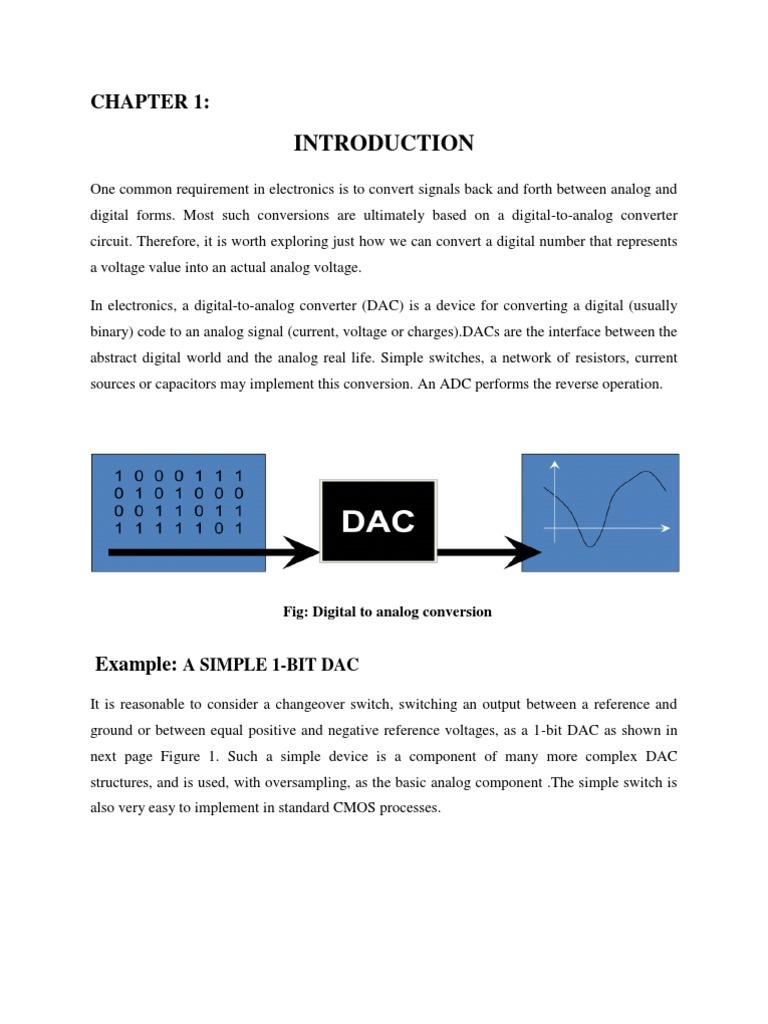 Report 2 Digital To Analog Converter Low Pass Filter R 2r Ladder Dac Circuit Diagram