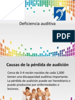 deficiencia auditiva