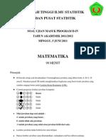 Soal Usm Stis 2011 - Matematika