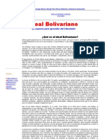 (Ideal Bolivariano - ¿Qué es el ideal Bolivariano_)