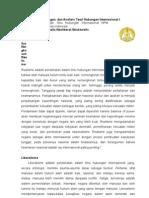 Analisis Teori Hubungan Internasional