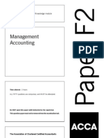 13163764 ACCA F2 Management Accountant Solved Past Papers 0107