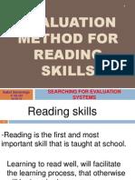 Homework 2 Evaluation Method for Reading Skills 5-5-12