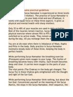 Surya Namaskar Some Practical Guidelines