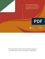 Lineamientos Agenda Publica