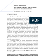 Evaluation of Standards for Academic Libraries in the Philippines