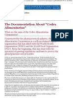 The Documentation About Codex Alimentarius