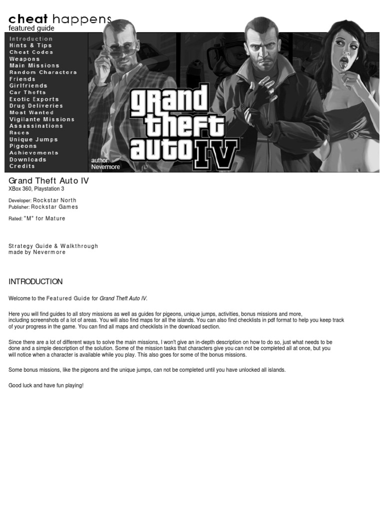 GTA 4 Cheat Happen | Cheating In Video Games | Video Games