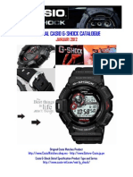 Original Casio Gshock Catalogue - Januari 2012