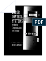 Error Control Systems for Digital Communication and Storage (Stephen B. Wicker)