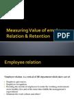 Measuring Value of Employee Relation Retention
