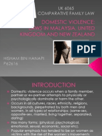 Domestic Violence Uk, Nz, My