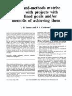 Goals and Methods Matrix