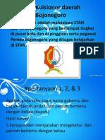 Hasil Kuisioner Daerah Bojonegoro