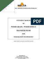 Wood Grain Effect Transfer Film