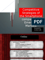 Comepetitive Strategies of Smart Phone Companies in Emerging Markets
