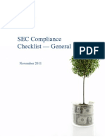 SEC Compliance Checklist - General