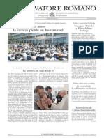 L´OSSERVATORE ROMANO. 06 Mayo 2012