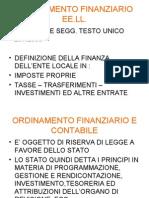 ORDINAMENTO FINANZIARIO EE