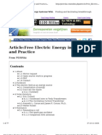 Free Electric Energy Latest