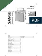 Sangean DPR-202 FM/DAB portable
