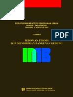 Peraturan Menteri PU NO 24_PRT_M_2007 Tentang Pedoman Teknis IMB Gedung