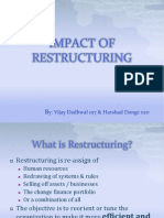 Impact of Restructuring