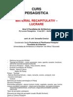 MaterialRecapitulativ LucrarePEISAGISTICA2011-2012
