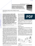 37744879 Clean Method for the Simultaneous Determination of Propyphenazone and Caffeine in Pharmaceuticals by Flow Injection Fourier Transform Infrared Spectro