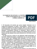 Paolo Grossi UN Derecho Sin Estado