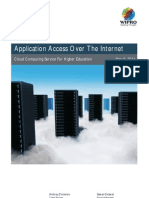 Application Access Over the Internet for Higher Education