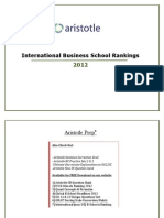International MBA Rankings 2012