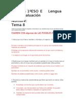 Examen Lengua Tema 8 1E Corregido
