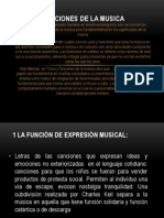 Funciones de La Musica